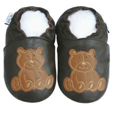 Free Shipping Littleoneshoes Soft Sole Baby Shoes Kids Infant Bear Brown 12-18M