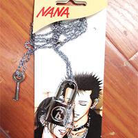 Anime Oosaki NANA Honjo Ren Lock Key Lovers' Pendant Necklace Ai Yazawa Cosplay