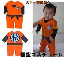 New Dragon Ball full Fancy Goku cosplay Costume baby 80-90 Gift