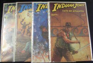INDIANA JONES FATE OF ATLANTIS 1-4 DARK HORSE COMIC SET COMPLETE W/CARDS 1991 VF
