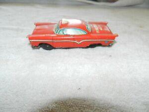 Vintage Tin Litho Fire Dept No 12 tin toy Friction Car Japan