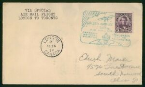 Mayfairstamps Canada First flight cover 1928 London to Toronto wwp79653
