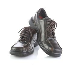 Skechers Dark Brown Leather Bicycle Toe Casual Oxfords Shoes Mens 10 Sn 60653