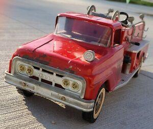 Vintage Tonka No. 5 Fire Truck Pumper pressed steel toy