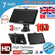"""8GB 7"""" TouchScreen Car GPS SAT NAV Navigation System FM Speedcam Free UK/EU Map"""