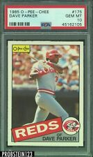 1985 O-Pee-Chee OPC #175 Dave Parker Cincinnati Reds PSA 10 LOW POP