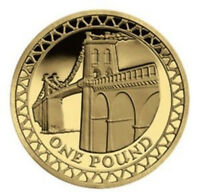 2005 £1 COIN RARE ONE POUND Menai Bridge
