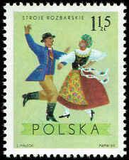 Scott # 1687 - 1969 - ' Costumes from Rozbark, Katowice ', Regional Costumes