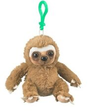 "4.5"" Sloth Plush Stuffed Animal Clip On Keychain - new"