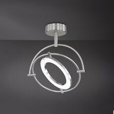 Wofi LED Deckenleuchte Monza 1-flg Nickel Ring verstellbar 24 Watt 1800 Lumen