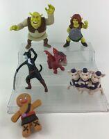 Shrek Toy Figure Lot 6pc 3 Little Pigs Dronkey Cat Dreamworks McDonalds C3