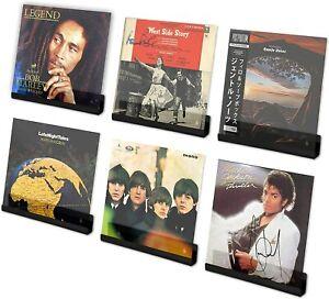 Vinyl Record Shelf Set of 6 - Wall Mount Vinyl Holder - LP Album Display Shelves