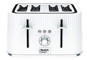 TEFAL LOFT TT760140 4 SLICE TOASTER 1700W - WHITE EX DISPLAY