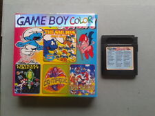 JUEGO GAME BOY COLOR GBC 32 IN 1 CON CAJA PITUFOS MARIO LAND Y MAS PAL LEER