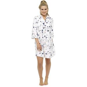 NEW Ladies 100% Cotton 'Star'  Nightshirt Nightwear/Loungewear