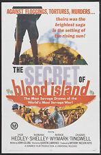 THE SECRET OF BLOOD ISLAND original 1965 one sheet movie poster BARBARA SHELLEY
