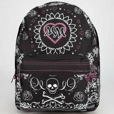 WOMEN'S GIRLS METAL MULISHA OMEN BACKPACK BLACK PINK LOGO  SCHOOL BAG NEW $55