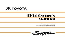 1994 Toyota Supra Owners Manual User Guide Reference Operator Book