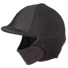 Tough-1 Fleece Warming Winter Riding Helmet Cover with Face Cover Black