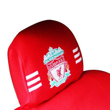 LIVERPOOL CAR SEAT ACCESSORY: HEAD REST COVER OFFICIAL LIVERPOOL FC PRODUCT NEW!