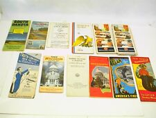 12 MISC. VINTAGE MAPS HIGHWAY ROAD NEW MEXICO WISCONSIN BOSTON MCDONALD`S + +