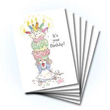 Suzy's Zoo Happy Birthday Greeting Card 6-pack 10226
