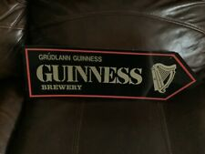 "Vintage Guinness Stout Beer ""Grudlann Guinness Brewery� 18� Plastic Bar Sign"