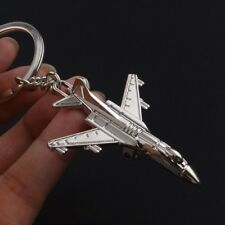 Silver Alloy Metal Classic 3D Simulation Model Airplane Plane Keychain Ring Gift