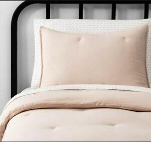 Hearth And Hand w/ Magnolia, Solid Comforter Full/Queen, Spa Peach w/Pillowcase