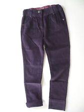 pantalon SERGENT MAJOR  10 ans Fille taille ajustable élastique velours violet