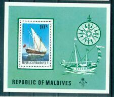 VOILIERS - VESSELS MALDIVES 1975 Block