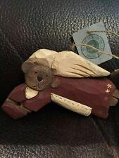 Boyds Bears Wooden Jill Strausbaugh Ornament Angel Bear