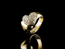 HERZ-RING GELBGOLD 750/. MIT 0.88ct TW/IF BRILLANTEN  VON LUXUS 4 YOU