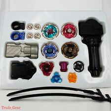 Beyblade Metal Masters Fusion Rotate Rip cord Launcher Beyblades Battle Set-D