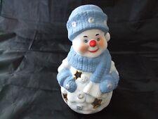Cute Ceramic Snowman Christmas Tea Light Holder