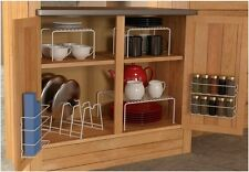 6 Piece Cabinet Organizer Set, 3 Shelves, 1 Spice Rack, 1 Wrap Rack, 1 Sorter