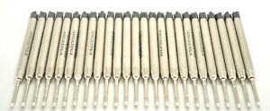 25 Black Mitrax brand ballpoint refills 0.8mm point compatible with Parker pens