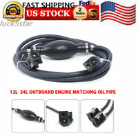 Marine Outboard Boat Motor Fuel/Gas Hose Line Assembly Oil Tube Tank Connector