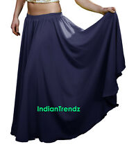 Chiffon 2 Layer Gypsy Skirts Full Circle Belly Dance Flamenco Double JUPE Rock