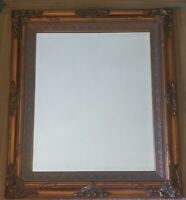 Vintage Gold Gilt Wood Gesso mini Grand Victorian beveled Mirror 20 x 24 EUC!