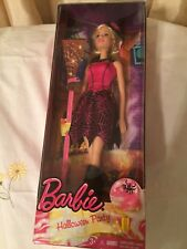 Barbie Halloween Witch Party Doll Blond Hair With A Pink Streak