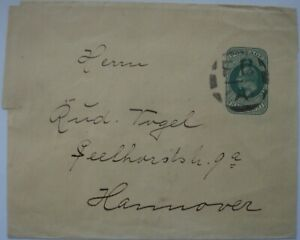 Edward VII: ½d green Wrapper; 'FB A' cancellation to Hannover, Germany.