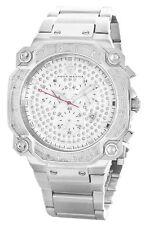 Aqua Master Men's Stainless Steel Silver Diamond Dial Watch W#142