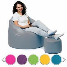 Sitzsack mit Hocker Beanbag Sitzkissen mit Styropor Füllung Sofa Indoor Outdoor