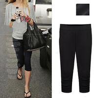 New Women Cropped Leggings Pants Trousers AU Size 8 10 12 14 16 18 20 22 #6699