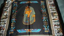 "#1031 vtg Scarf 35"" Egypte Pharaohs Design 100 % polo made in Italy Unused"
