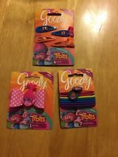 Trolls Hair Ties Poppy Ouchless Bands  Ribbon Elastics Goody Snap Clips 12pc
