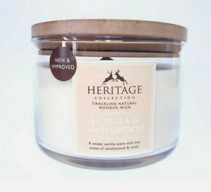 Heritage – Vanilla & Amberwood – Single Wick 470g