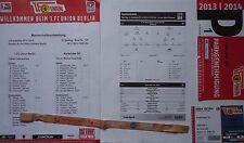 5 items VIP Ticket Parking Aufstellung 2013/14 Union Berlin - Karlsruher SC