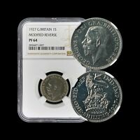 1927 Great Britain Shilling (Silver) - NGC PF64 - Modified Reverse RARE Proof